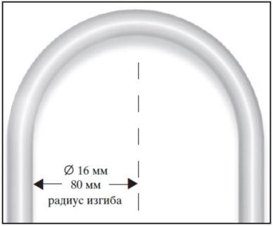 Нельзя гнуть трубы с радиусом закругления менее 5 см.