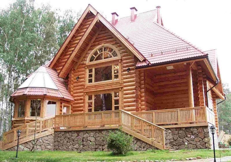 Деревянный дом с напольным отоплением