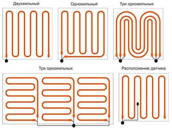 Схемы укладки кабелей в комнате