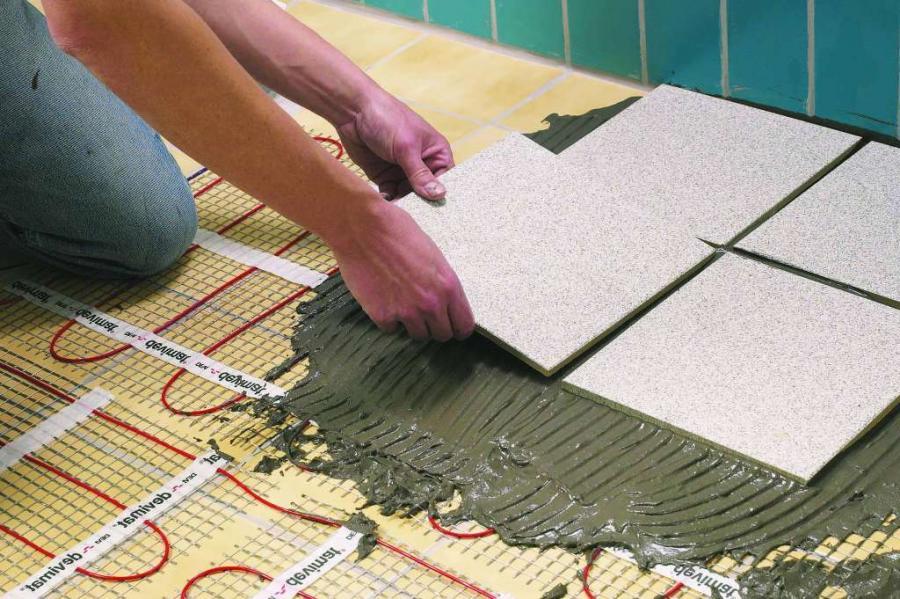 Укладка плитки от угла