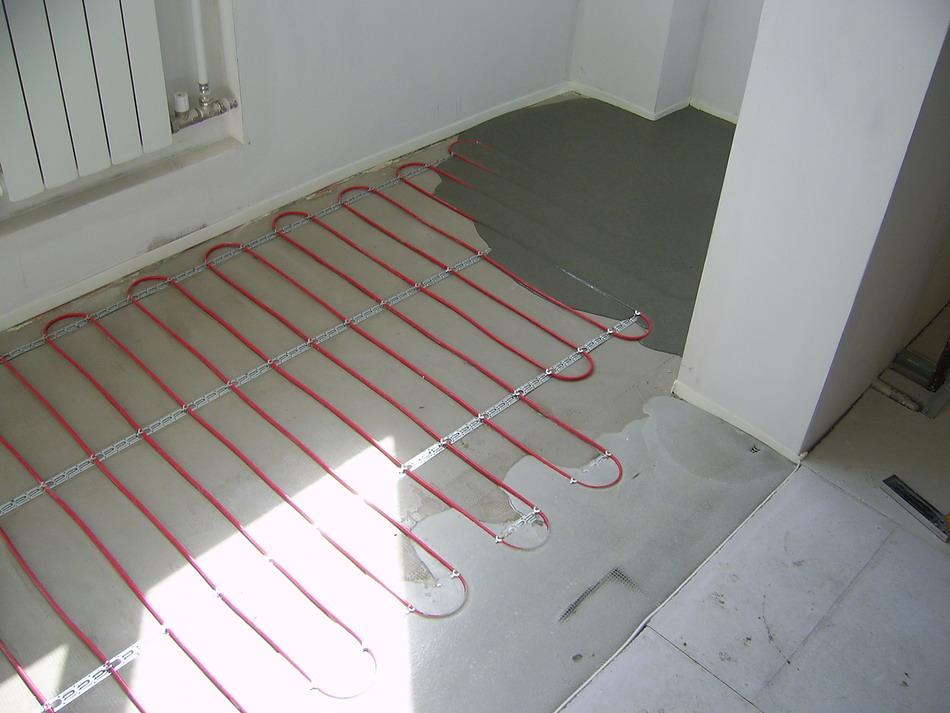 пример укладки кабеля под сяжку
